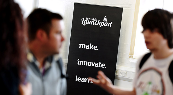 Teesside Launchpad is a vibrant campus environment for new companies and students.