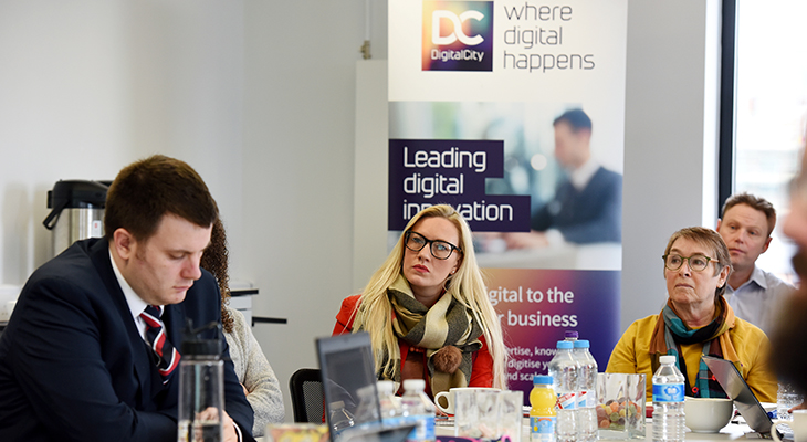 Businesses on the latest DigitalCity Fellowship Accelerator programme at a workshop at Boho Five in Middlesbrough.