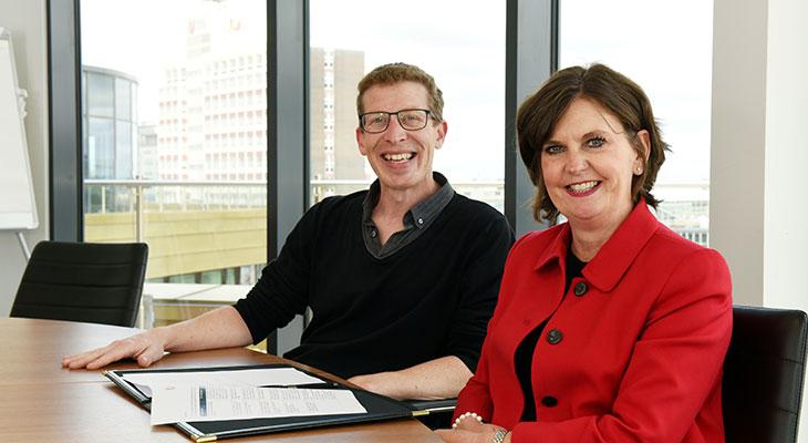 Dominic Lusardi and Professor Jane Turner OBE DL