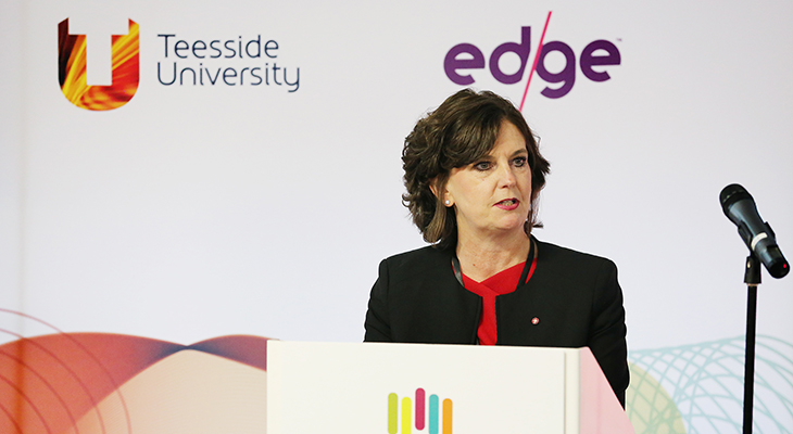 Professor Jane Turner OBE DL speaking at VentureFest