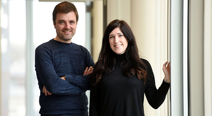 Sarah Collinson and Allen Brindle from Darlington digital design agency Edward Robertson