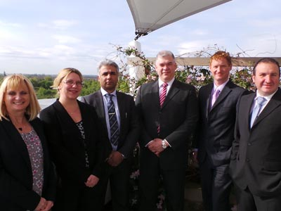 The REPS team at Teesside University. From left - Janet Atkinson, Sam Jackson, Suhail Aslam, Pedro Rivera, Guy Bashford and Ruben Pinedo-Cuenca.. Link to SMEs recognised for their environmental efficiency.