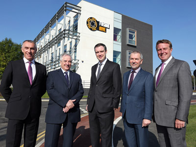Left to right: Vice-Chancellor of Teesside University - Professor Paul Croney, Leader of Stockton-on-Tees Borough Council – Councillor Bob Cook, Northern Powerhouse Minister – James Wharton MP, Head of Area for the Homes and Communities Agency – Bill Carr, Joint Managing Director of Muse Developments – Matt Crompton.. Link to Northern Powerhouse Minister praises Fusion Hive.