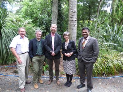 UK Delegates with British High Commissioner Steve Thompson (first left).