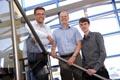 L-R, Tyrone Davison from Teesside University, David Orr, owner of Hazdet and Cameron Cotterrill, KTP associate.