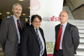 From left - Jon Poole, Chief Executive of IFST, Nigel Atkinson, Course leader BSc (Hons) Food and Nutrition at Teesside University, and Ian Blakemore, IFST North of England committee member.