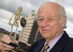 Movie special effects legend Ray Harryhausen, who visited Animex several times.
